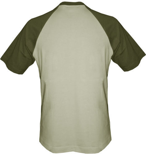 t-shirt Baseball dowolny tekst- beżowo-khaki