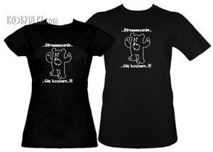 Koszulki dla pary-Zestaw Strasznie Cię kocham