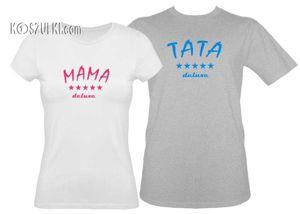 Zestaw koszulka damska + t-shirt rodzice deluxe