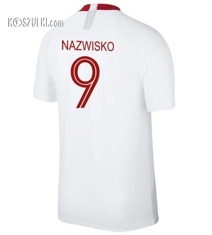 2b9002f28 ... Oryginalna Koszulka Reprezentacji Polski NIKE MŚ 2018 Home Breathe  Stadium Biała Nazwisko i numer Kliknij, aby powiększyć