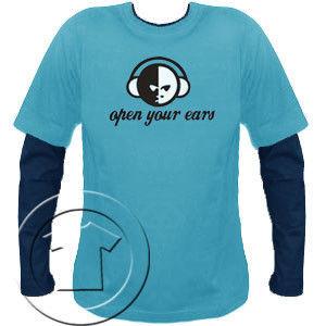 Bluza męska przedłużony rękaw Open your ears