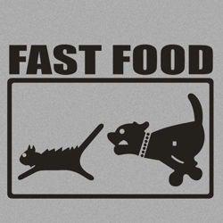 Bluza z kapturem FAST FOOD- SZARA