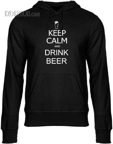 Bluza z kapturem Keep Calm & drink beer
