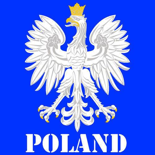 Bluza z kapturem Orzeł– Poland,niebieska