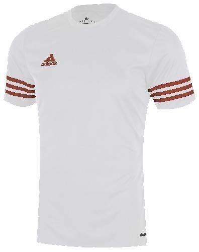 KOSZULKA adidas ENTRADA 14 biało/czerwona /F50490