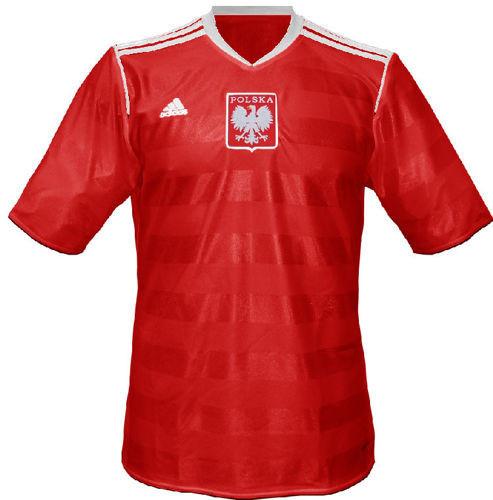 Koszulka Adidas Poland Retro czerwona (model z MS1974)+ Nazwisko i numer