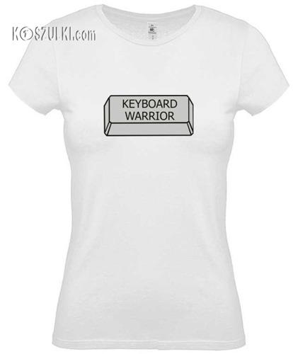 Koszulka damska Keyboard warrior