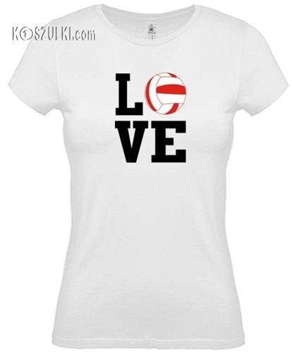 Koszulka damska Love volleyball