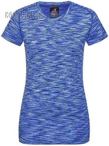 Koszulka treningowa damska szybkoschnąca- Niebieski melanż