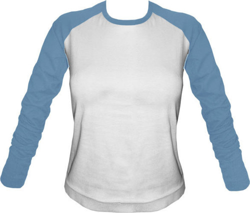 Longsleeve Damski biało-błękitny