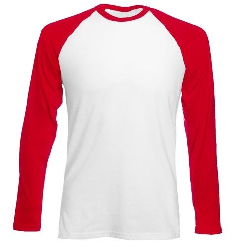Longsleeve męski biało-czerwony