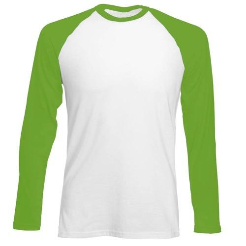 Longsleeve męski biało-zielony