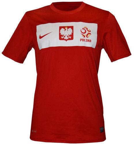 Oryginalna Koszulka Polska NIKE Euro 2012 Czerwona-450511 61