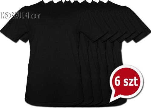 Pakiet 6 sztuk T-Shirt - CZARNY