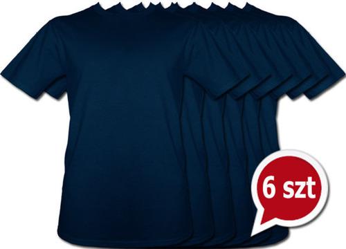 Pakiet 6 sztuk T-Shirt - GRANATOWY