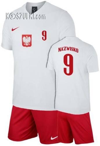 Strój kibica Reprezentacji Polski Nike Poland Euro 2020 Koszulka i spodenki własny numer i nazwisko