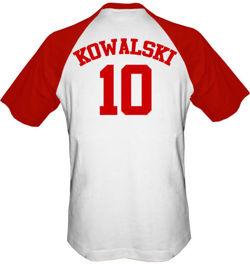 T-shirt Baseball Dziecko  Polska + własne nazwisko i numer
