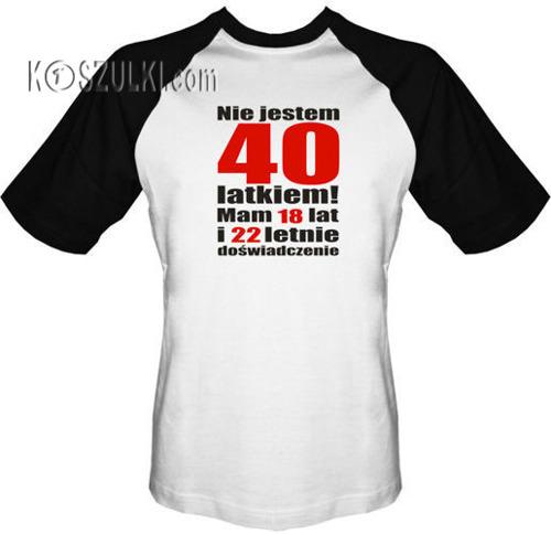 T-shirt BASEBALL - Nie jestem 40 latkiem