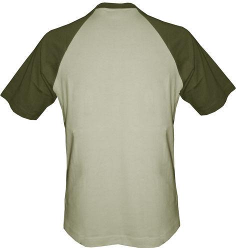 T-shirt Baseball beżowo-khaki