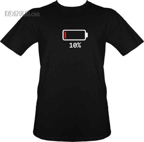 T-shirt Bateria 10%