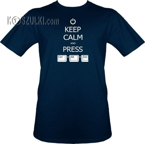 T-shirt Keep calm and Ctrl Alt Del