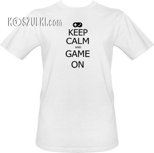 T-shirt Keep calm and game on