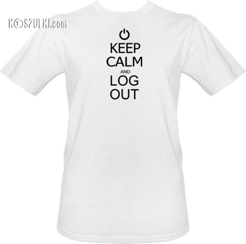 T-shirt Keep calm and log out
