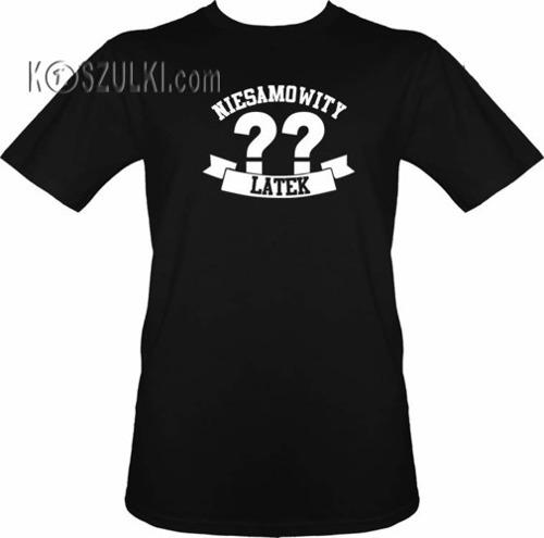 T-shirt Niesamowity ?? latek- Czarny