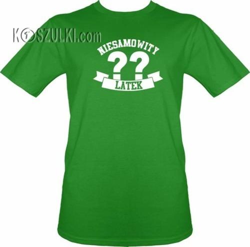 T-shirt Niesamowity ?? latek- Jasny zielony