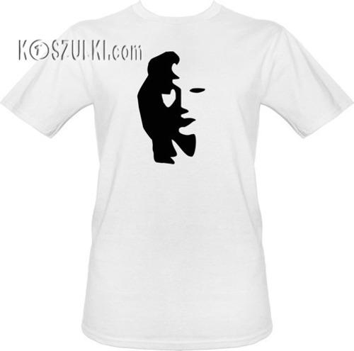 T-shirt Saksofonista z twarzą