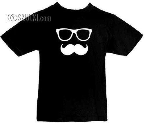 T-shirt dziecięcy Okulary + wąs