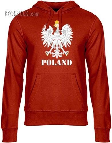 Bluza z kapturem ORZEŁ– Poland,czerwona