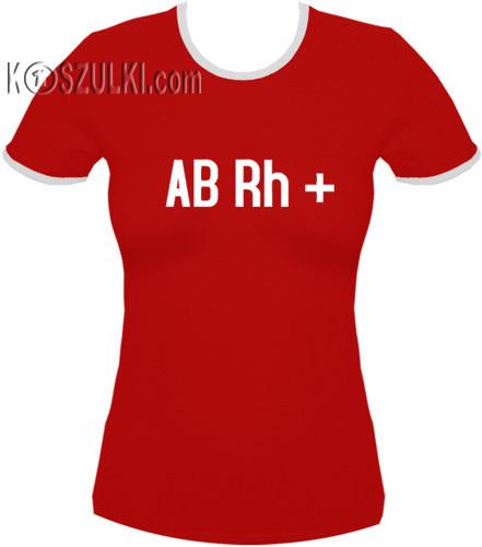 koszulka damska ABrh PLUS- CZERWONA