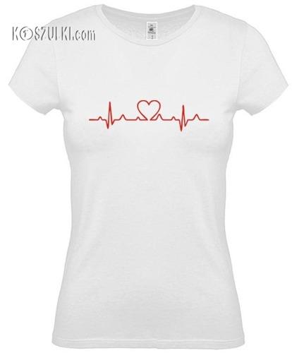 koszulka damska EKG serce