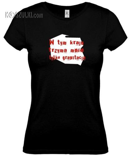 koszulka damska Grawitacja- CZARNA