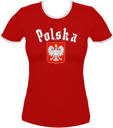 koszulka damska Kd048 Polska Gotyk Czerwony