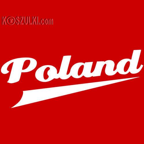 koszulka damska Kd120 Poland- CZERWONA