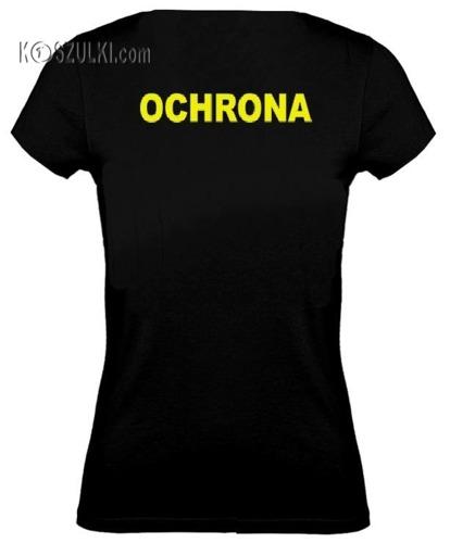 koszulka damska Ochrona- CZARNA