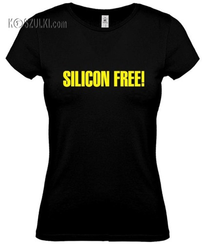 koszulka damska Silicon Free- CZARNA