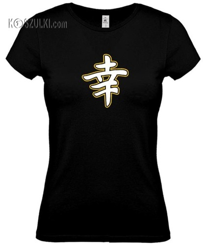 koszulka damska Szczęście- CZARNA