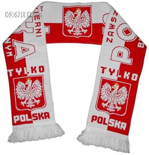 szalik Polska,dziany, GODŁO ZAWSZE WIERNI 1