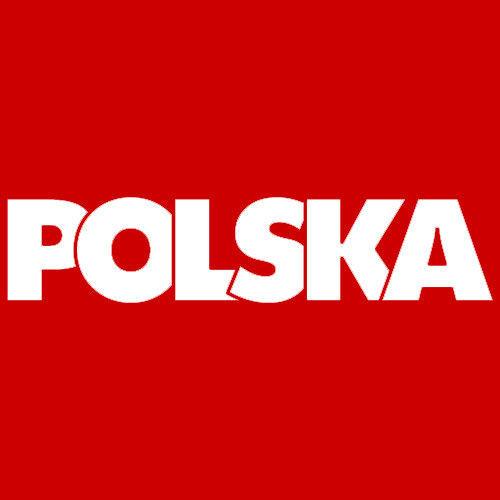 t-shirt 2K067 napis Polska Czerwona