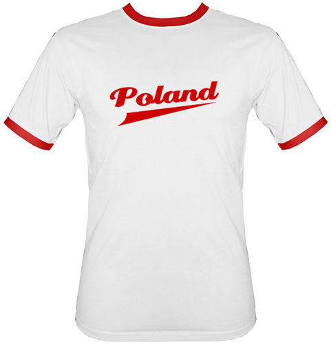 t-shirt 2K121 Poland Biały