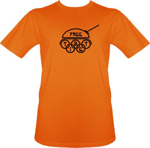 t-shirt Free TIBET CZOŁG
