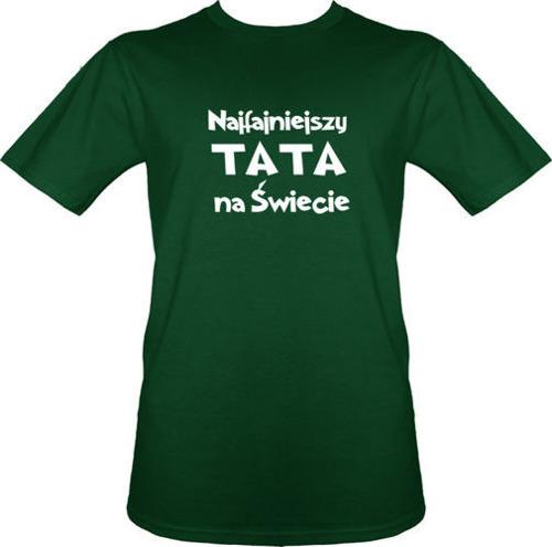 t-shirt Najfajniejszy Tata na Świecie ZIELONY