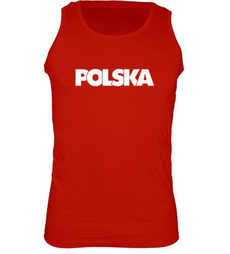 t-shirt Ramiączka TR067 napis Polska Czerwona