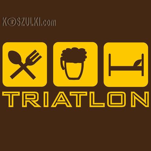 t-shirt Triatlon Brązowy