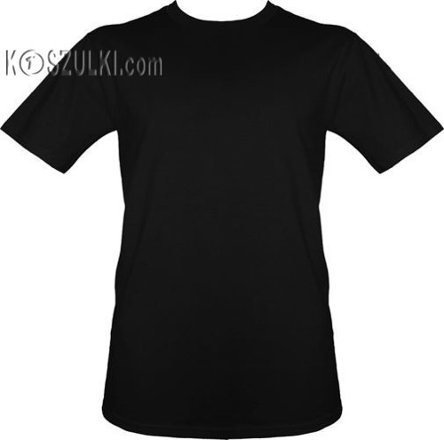 t-shirt bez nadruku Czarny
