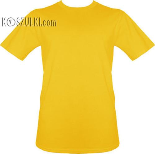 t-shirt bez nadruku Żółty