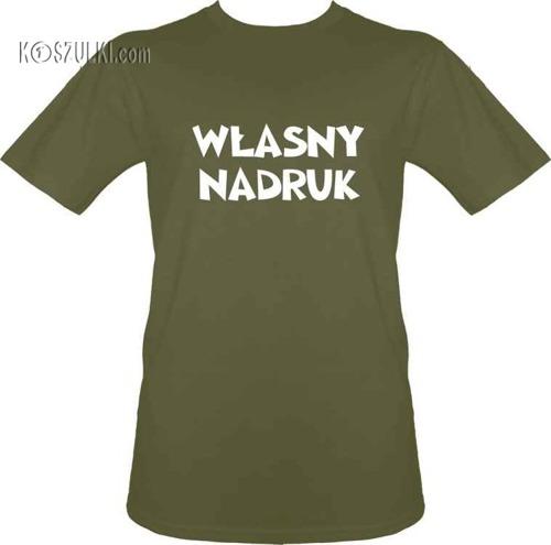 t-shirt z własnym nadrukiem- Khaki